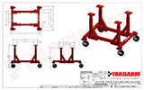 Yardarm ES3   Engine Stand Dimensioned Drawing