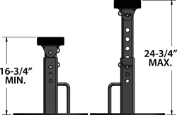 Inboard Boat Stands Adjustable Height Diagram