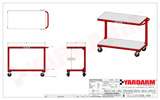 Yardarm SC2 Service Cart Dimensioned Drawing