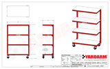 Yardarm SC4 Service Cart Dimensioned Drawing