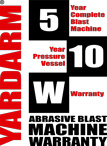 Yardarm Abrasive Blast Machine Warranty